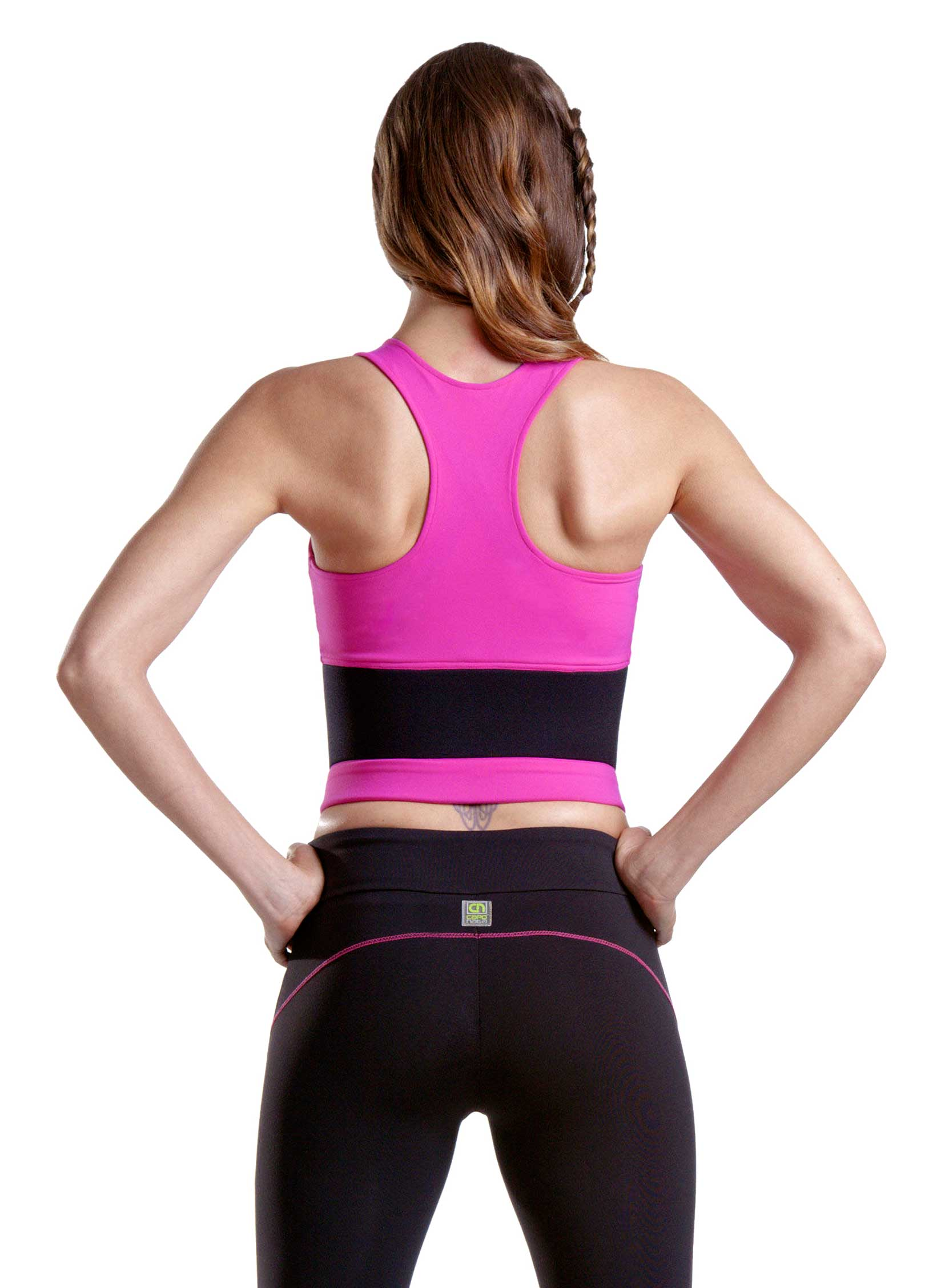 Lean Body Sports Bra In Pink Rear