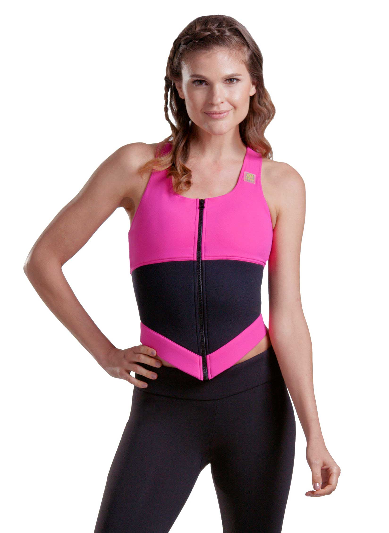 Lean Body Sports Bra In Pink Front