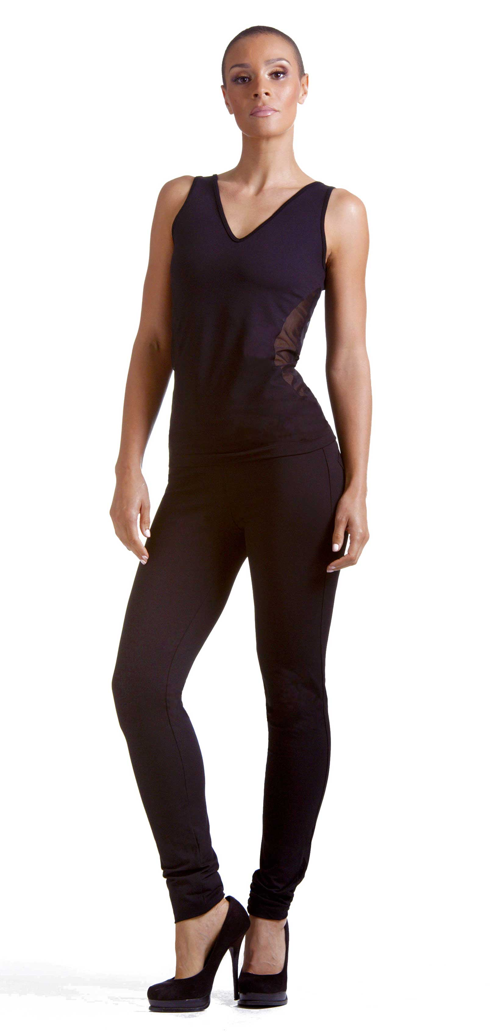 Running Mesh Leggings Front